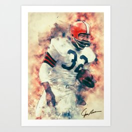 Jim Brown Art Print