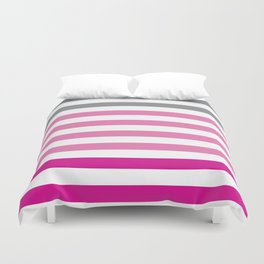 Stripes Gradient - Pink Duvet Cover