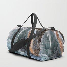 Behind Spouting Rock  Frozen Waterfall - Hanging Lake - Glenwood Canyon Colorado Duffle Bag
