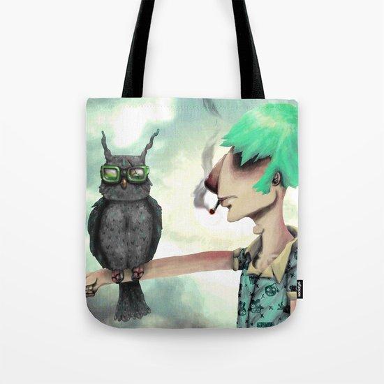 Punk N' A Bird Tote Bag