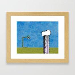 Where the grass is always greener Framed Art Print