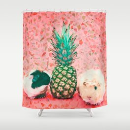 Guinea pig and pineapple Shower Curtain