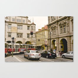 Prague Tram Station II. Canvas Print