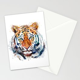 Tiger Head watercolor Stationery Cards