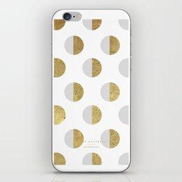 moon white - 5c/4s/4 iPhone Skin