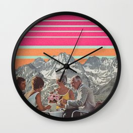 Mt. Retro Country Club Wall Clock