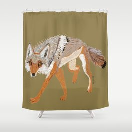 Totem Coyote Shower Curtain