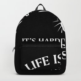 Life Is Harder Without Jesus Backpack