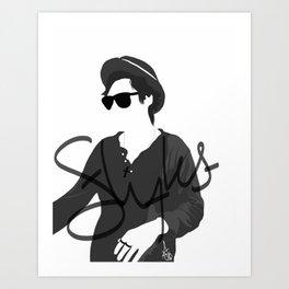 Styles Silhouette Art Print