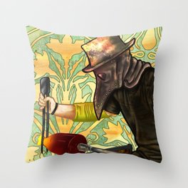 Plague Gaffer Throw Pillow