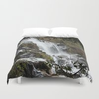 waterfall Duvet Covers featuring Waterfall by Four Hands Art