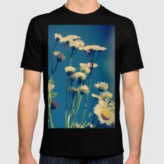 Coming Up Daisies Mens Fitted Tee Black MEDIUM