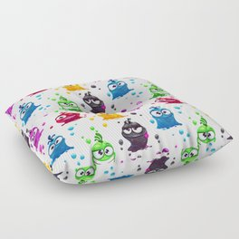 Goofy Monster Pattern Floor Pillow