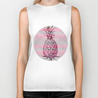 pineapple Biker Tanks featuring Pineapple by LebensART