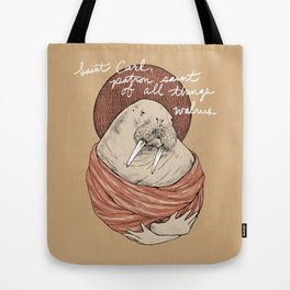 Saint Carl (with text) Tote Bag