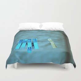Clothesline Love Duvet Cover
