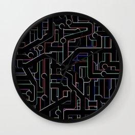 City Circuitry / Stadtkreise Wall Clock