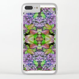 AUTUMN HYDRANGEA MANDALA Clear iPhone Case