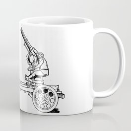 Anti-aircraft gun. Coffee Mug