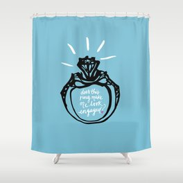 Bride-to-be Shower Curtain