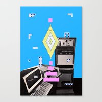 computer Canvas Prints featuring COMPUTER GAMES by MAR AMADOR