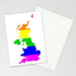 United Kingdom Gay Pride Flag Stationery Cards