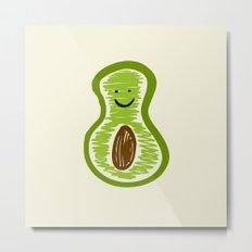 Smiling Avocado Food Metal Print