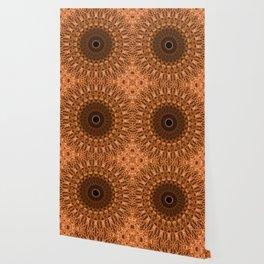 Brown and golden mandala Wallpaper