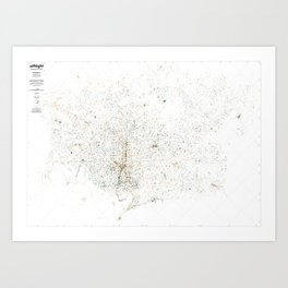 atNight / Barcelona night and day Art Print