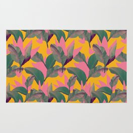 Retro Luxe Lilies Pattern Rug