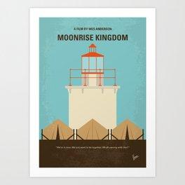 No760 My Moonrise Kingdom minimal movie poster Art Print