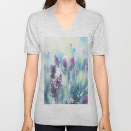 #Lavender #summer #beauty #dreams Unisex V-Neck