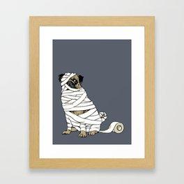 The Mummy Pug Return Framed Art Print