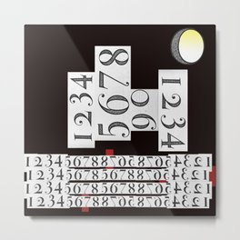 It's all in the numbers- city lights Metal Print