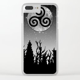 Full Moon Triskele Clear iPhone Case