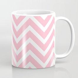 Chevron Stripes : Pink & White Coffee Mug