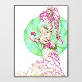 Lady Roses Canvas Print