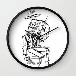 dead cowboy Wall Clock