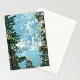 Lake Tahoe Through the Trees Stationery Cards