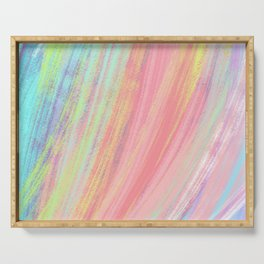 Rainbow Pattern Serving Tray