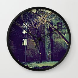 Old garden keeps secrets Wall Clock