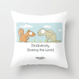 Biodiversity 4 Throw Pillow