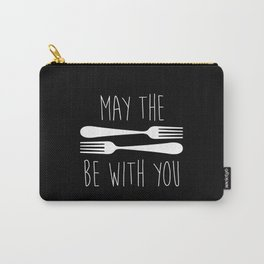 May The Forks Be With You Carry-All Pouch