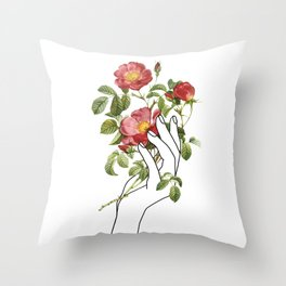 Flower in the Hand II Throw Pillow