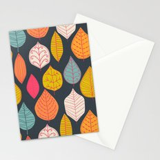colorful leaf pattern Stationery Cards