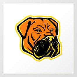 Bullmastiff Dog Mascot Art Print