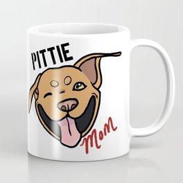 Red Pittie Mom Coffee Mug