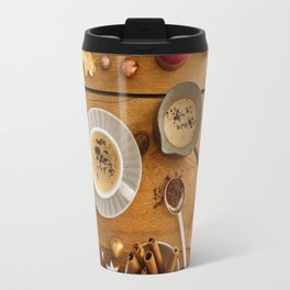 Christmas decoration on wood Travel Mug