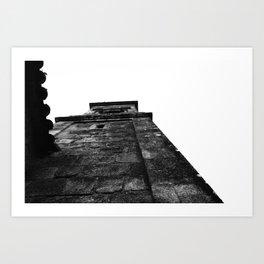 Church Black and white Art Print