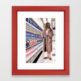 The Dude Shopping Center Framed Art Print